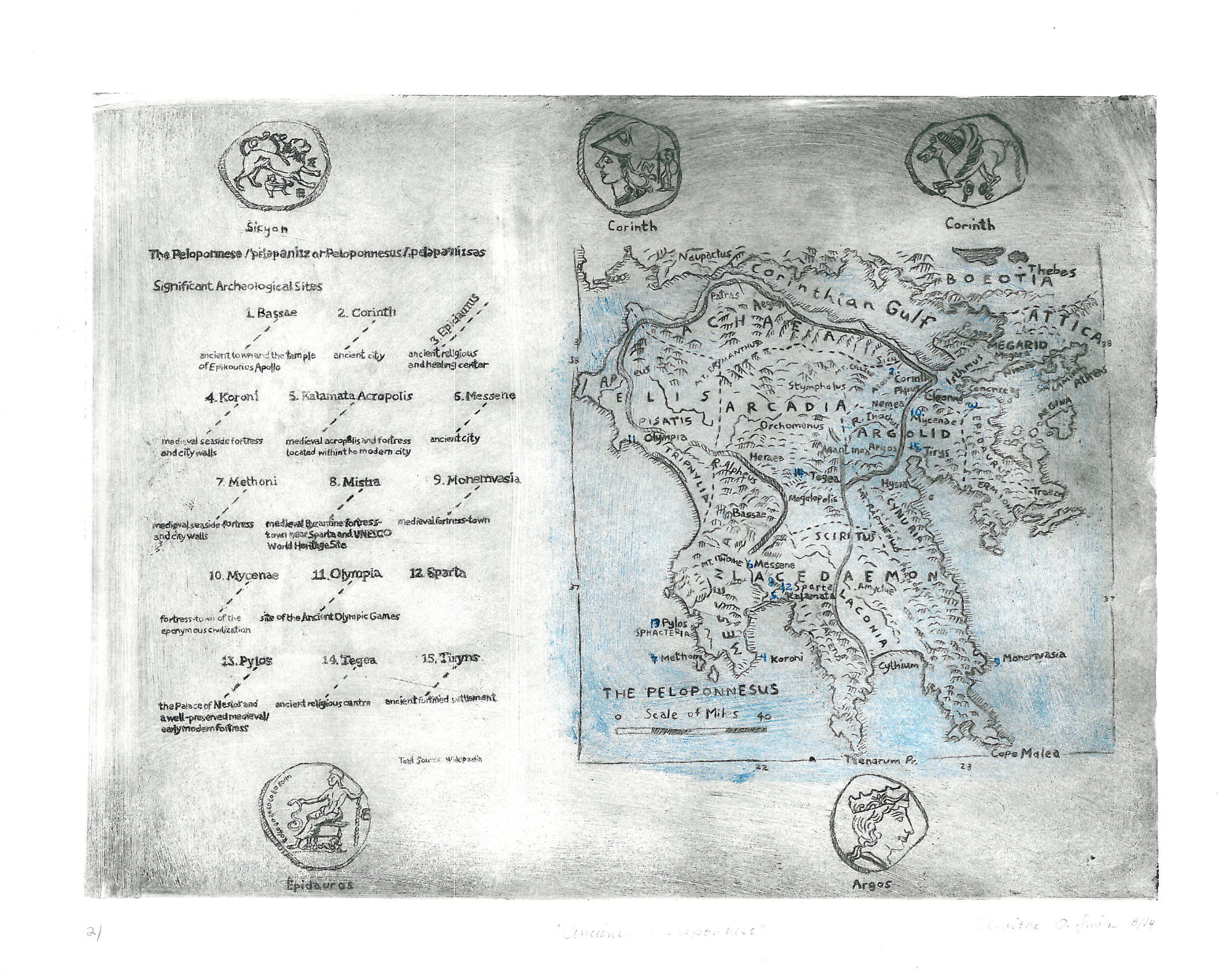 Ancient Peloponnese Map